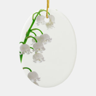 Lily Of The Valley Ceramic Oval Ornament