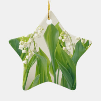 Lily of the Valley Ceramic Star Ornament