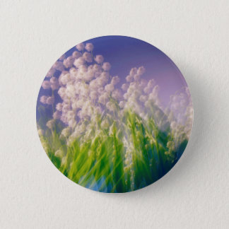 Lily of the Valley Dance in Blue 2 Inch Round Button