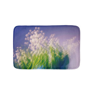 Lily of the Valley Dance in Blue Bath Mat