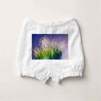 Lily of the Valley Dance in Blue Diaper Cover