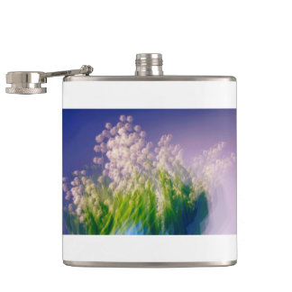 Lily of the Valley Dance in Blue Hip Flask