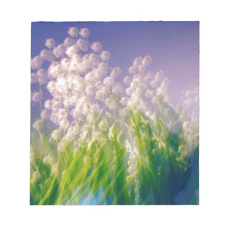 Lily of the Valley Dance in Blue Notepad