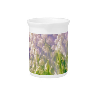 Lily of the Valley Dance in Blue Pitcher