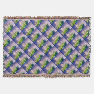 Lily of the Valley Dance in Blue Throw Blanket