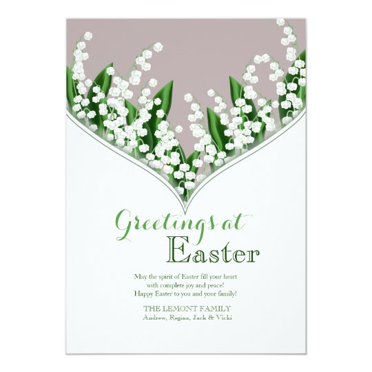 Lily of the Valley Easter Card