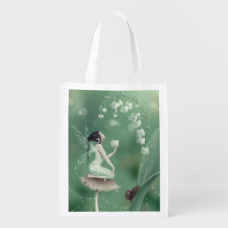 Lily of the Valley Fairy Reusable Grocery Bag