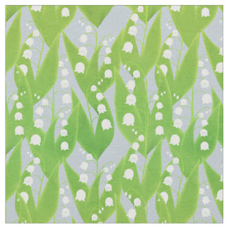 Lily of the Valley Floral Pattern Fabric