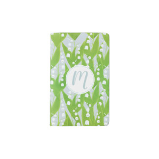 Lily of the Valley Floral Pattern Pocket Moleskine Notebook