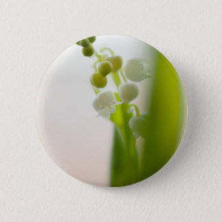 Lily of the Valley Flower 2 Inch Round Button