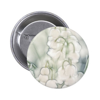 Lily of the Valley Flower Bouquet 2 Inch Round Button