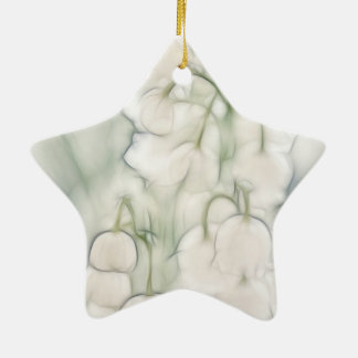 Lily of the Valley Flower Bouquet Ceramic Star Ornament
