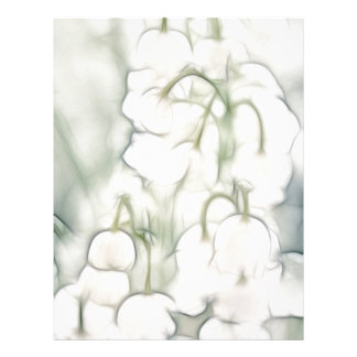 Lily of the Valley Flower Bouquet Letterhead