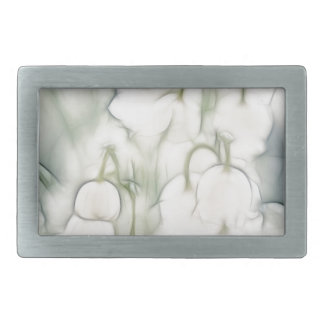 Lily of the Valley Flower Bouquet Rectangular Belt Buckle