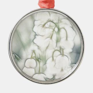 Lily of the Valley Flower Bouquet Silver-Colored Round Ornament