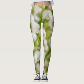 Lily of the Valley Flower Bouquet Sketch Leggings