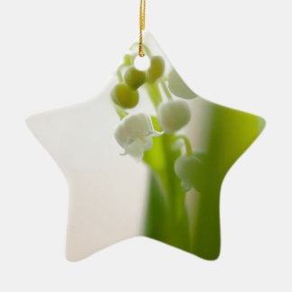 Lily of the Valley Flower Ceramic Star Ornament