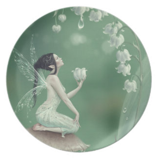 Lily of the Valley Flower Fairy Plate