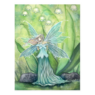 Lily of the Valley Flower Fairy Postcard
