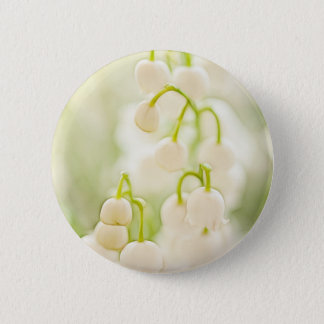Lily of the Valley Flower Group Sketch 2 Inch Round Button