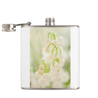Lily of the Valley Flower Group Sketch Hip Flask