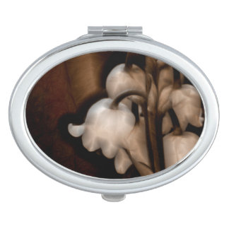 Lily of the Valley Flower in Dark Brown Mirror For Makeup