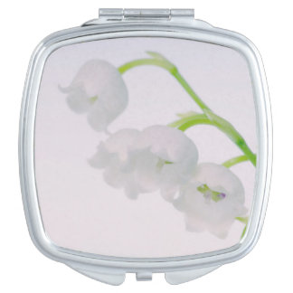 Lily of the Valley Flower Mirror For Makeup