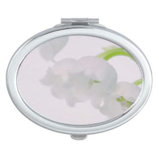 Lily of the Valley Flower Mirrors For Makeup