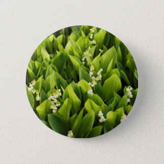 Lily of the Valley Flower Patch 2 Inch Round Button