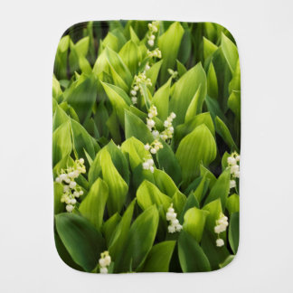 Lily of the Valley Flower Patch Burp Cloth