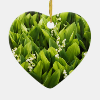 Lily of the Valley Flower Patch Ceramic Ornament