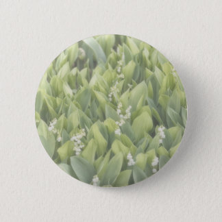 Lily of the Valley Flower Patch in Fog 2 Inch Round Button