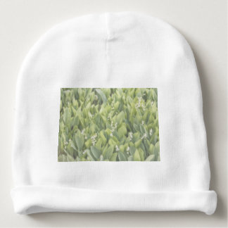 Lily of the Valley Flower Patch in Fog Baby Beanie