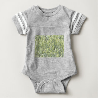 Lily of the Valley Flower Patch in Fog Baby Bodysuit