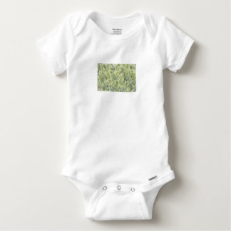Lily of the Valley Flower Patch in Fog Baby Onesie