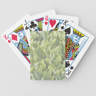 Lily of the Valley Flower Patch in Fog Bicycle Playing Cards