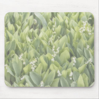 Lily of the Valley Flower Patch in Fog Mouse Pad