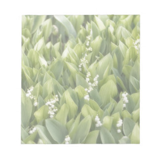 Lily of the Valley Flower Patch in Fog Notepad