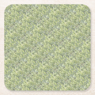 Lily of the Valley Flower Patch in Fog Square Paper Coaster