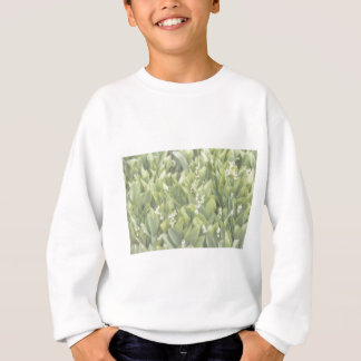 Lily of the Valley Flower Patch in Fog Sweatshirt
