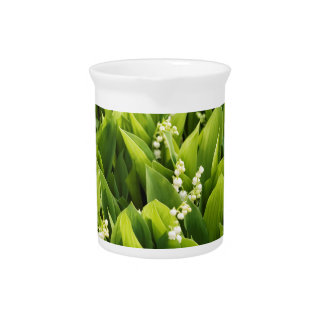 Lily of the Valley Flower Patch Pitcher