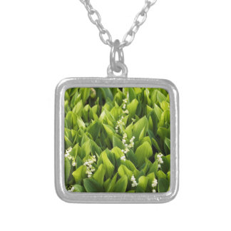 Lily of the Valley Flower Patch Silver Plated Necklace