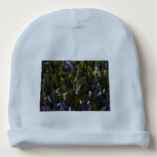 Lily of the Valley Flower Patch with Blue Tint Baby Beanie