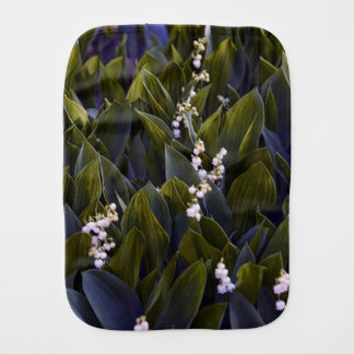 Lily of the Valley Flower Patch with Blue Tint Burp Cloth