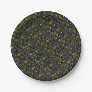 Lily of the Valley Flower Patch with Blue Tint Paper Plate