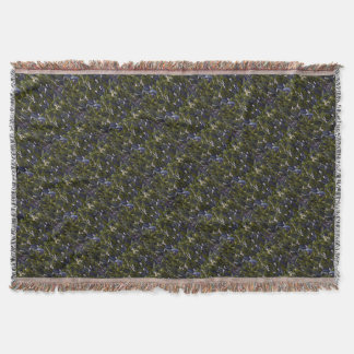 Lily of the Valley Flower Patch with Blue Tint Throw Blanket