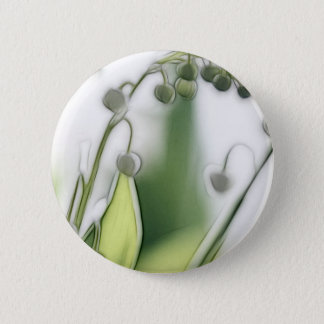 Lily of the Valley Flower Repetition Sketch 2 Inch Round Button
