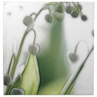 Lily of the Valley Flower Repetition Sketch Napkin