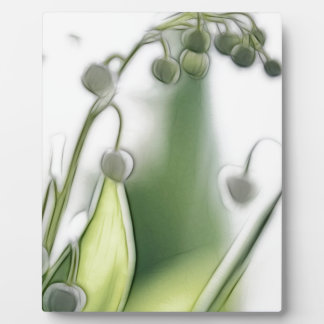 Lily of the Valley Flower Repetition Sketch Plaque