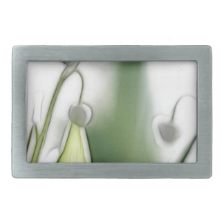 Lily of the Valley Flower Repetition Sketch Rectangular Belt Buckle